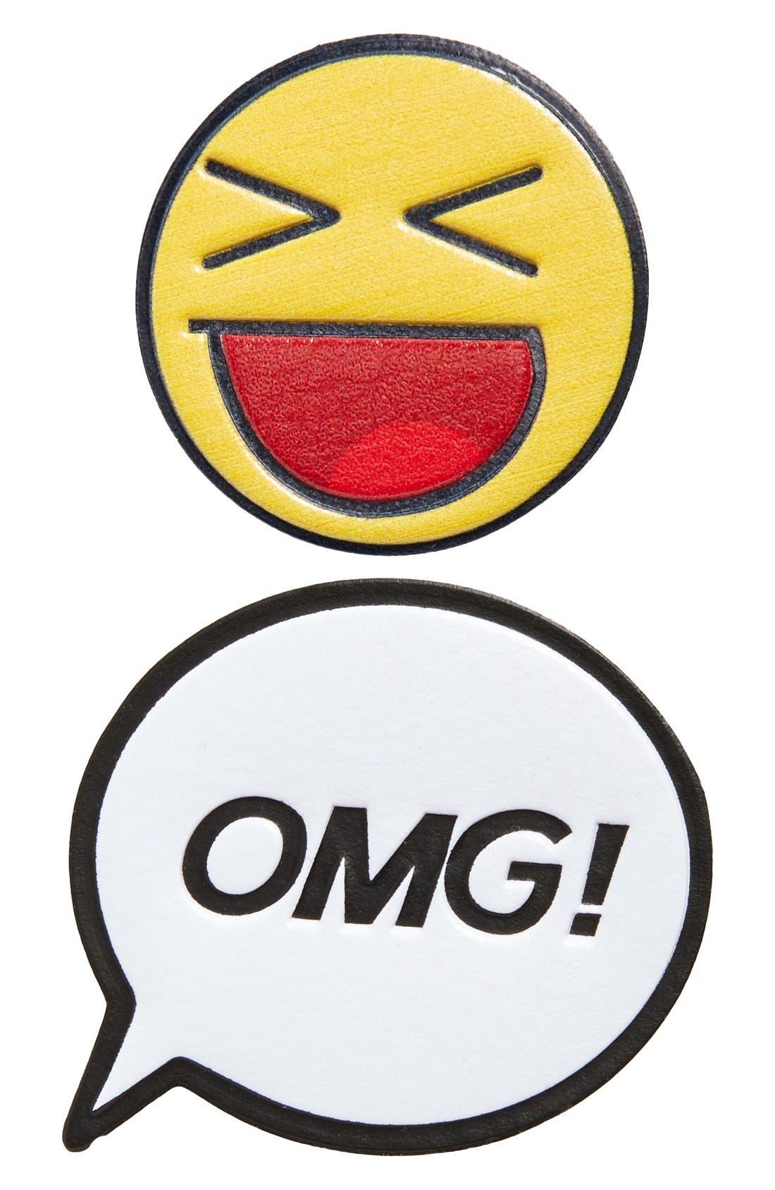 Main Image - Skinnydip 'OMG!' Plushie Stickers (Set of 2)