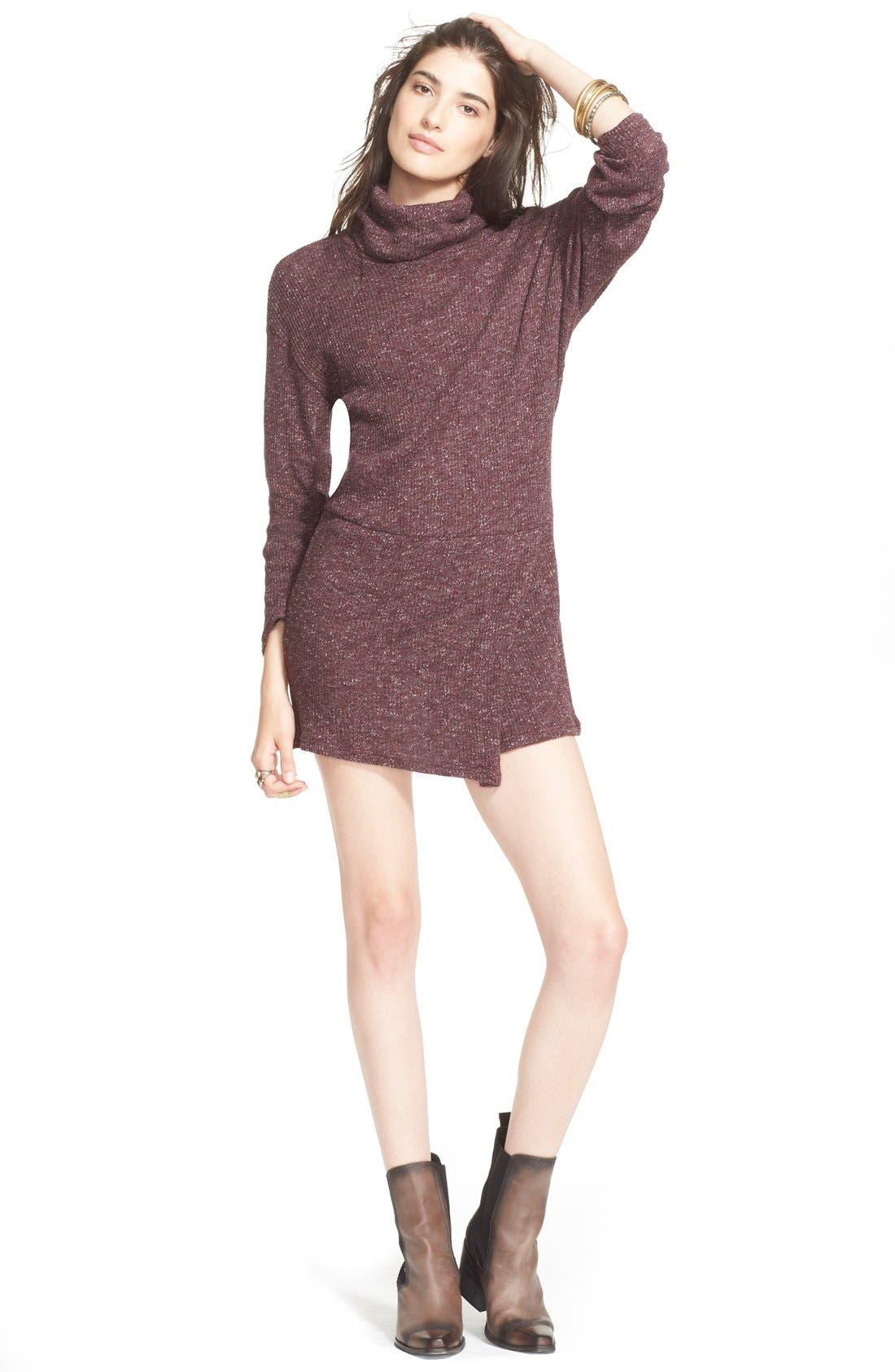 'By the Fire' Minidress,                         Main,                         color, Deep Wine