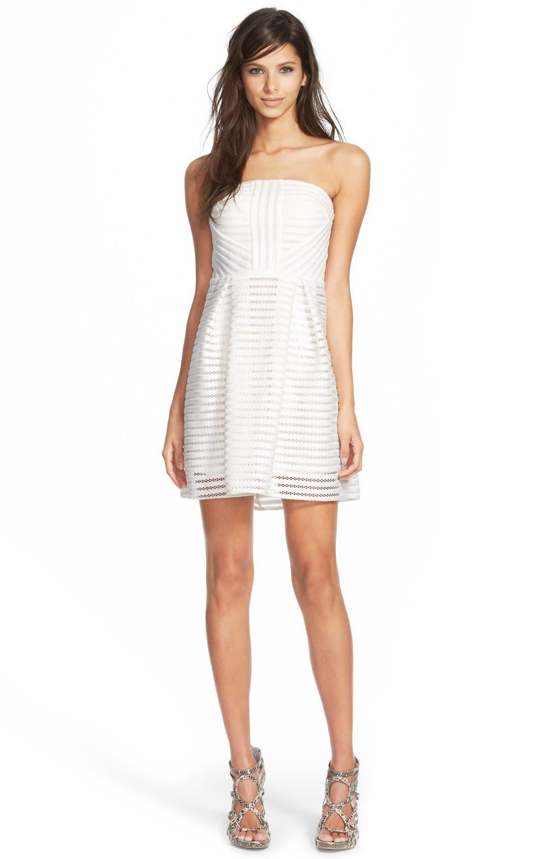 Alternate Image 1 Selected - Missguided Strapless Skater Dress