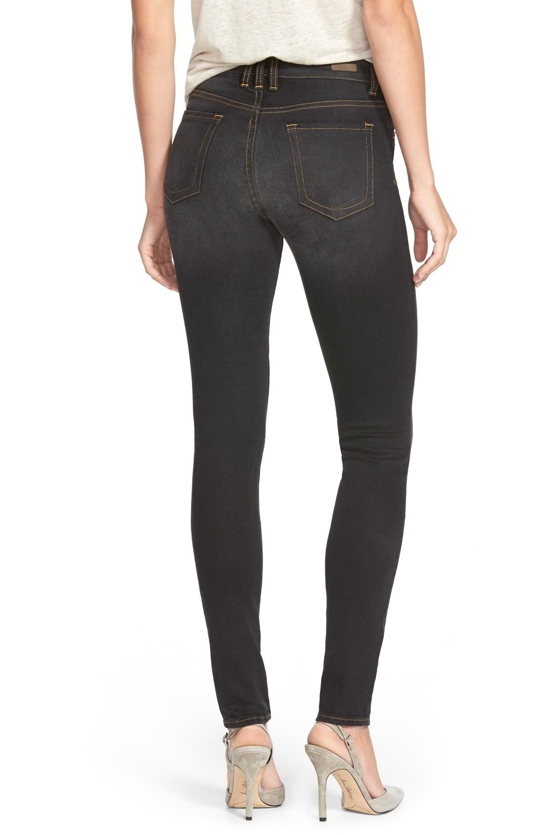Alternate Image 2  - KUT from the Kloth 'Diana' Stretch Skinny Jeans (Black) (Regular & Petite)