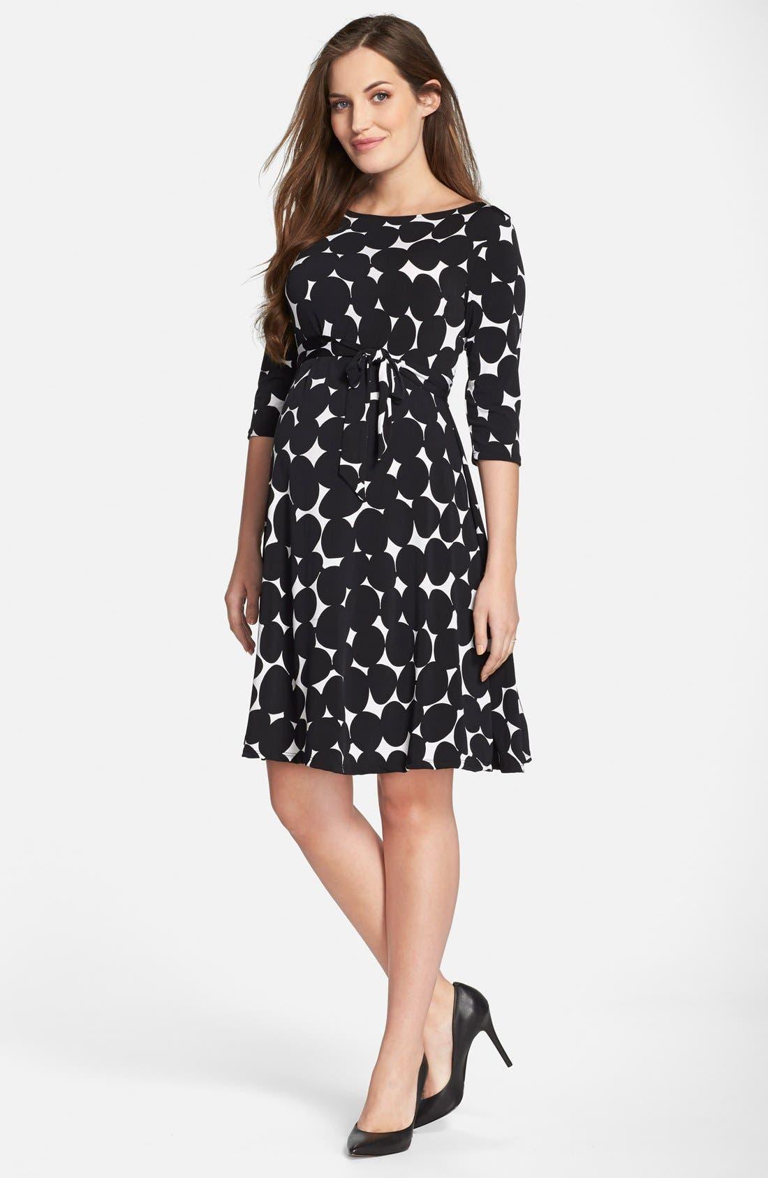 Main Image - Leota 'Ilana' Belted Maternity Dress