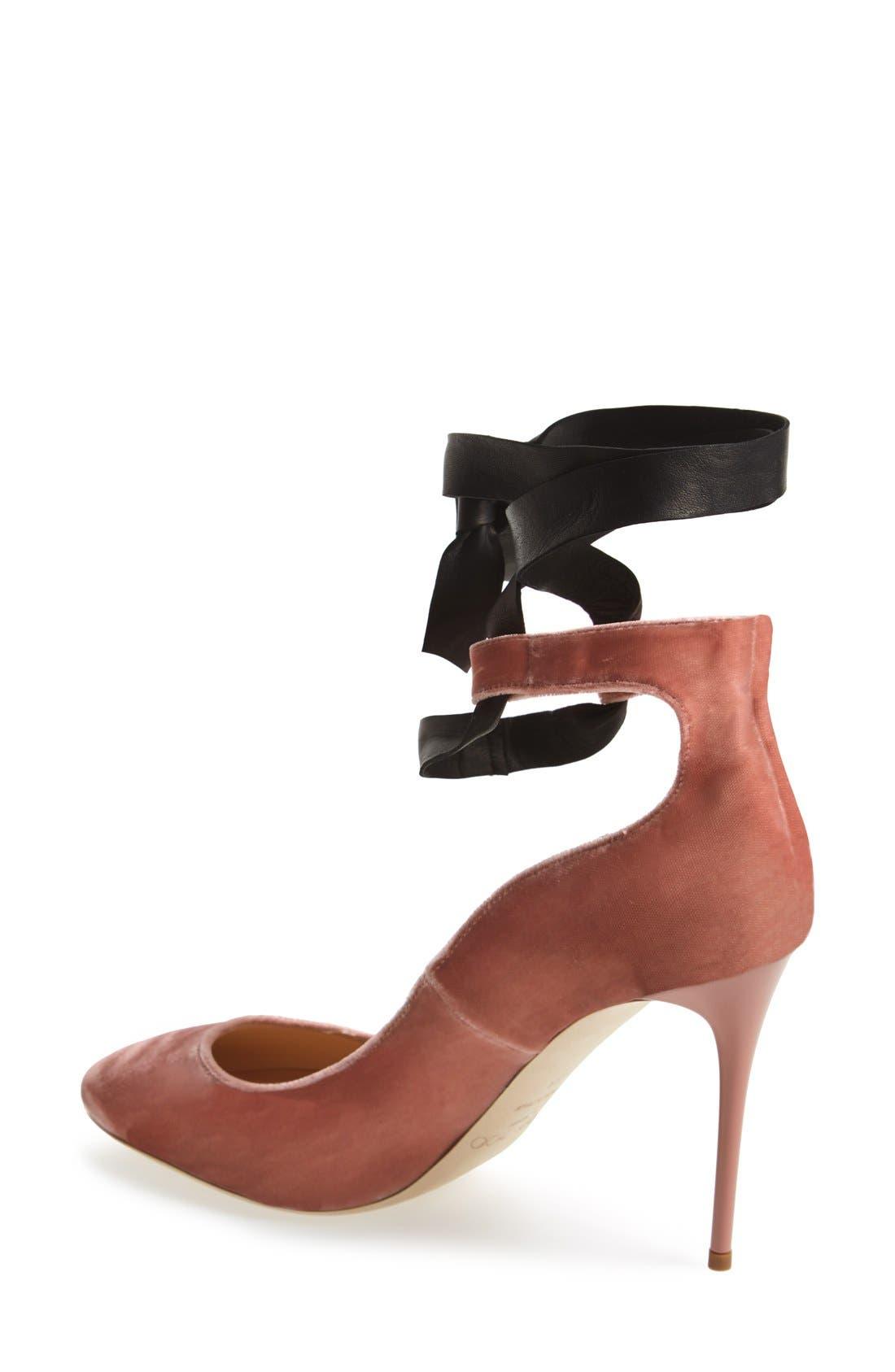'Rosana' Pump,                             Alternate thumbnail 5, color,                             Ballet Pink Velvet