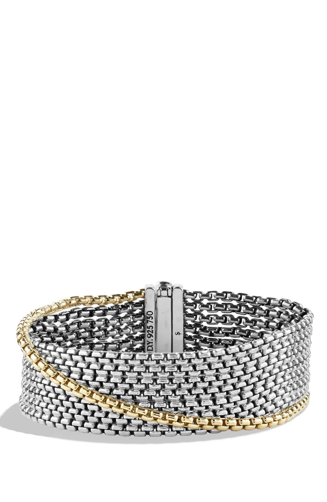 Main Image - David Yurman Chain Box Chain Eight-Row Bracelet with Gold