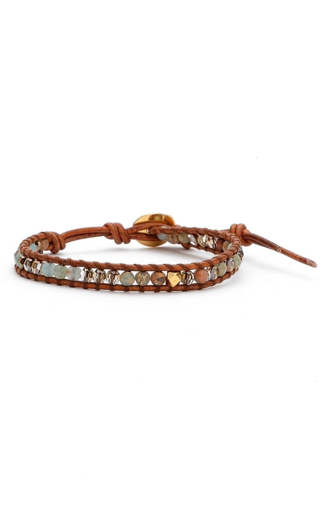 Alternate Image 1 Selected - Chan LuuSemiprecious StoneBeaded Leather Bracelet