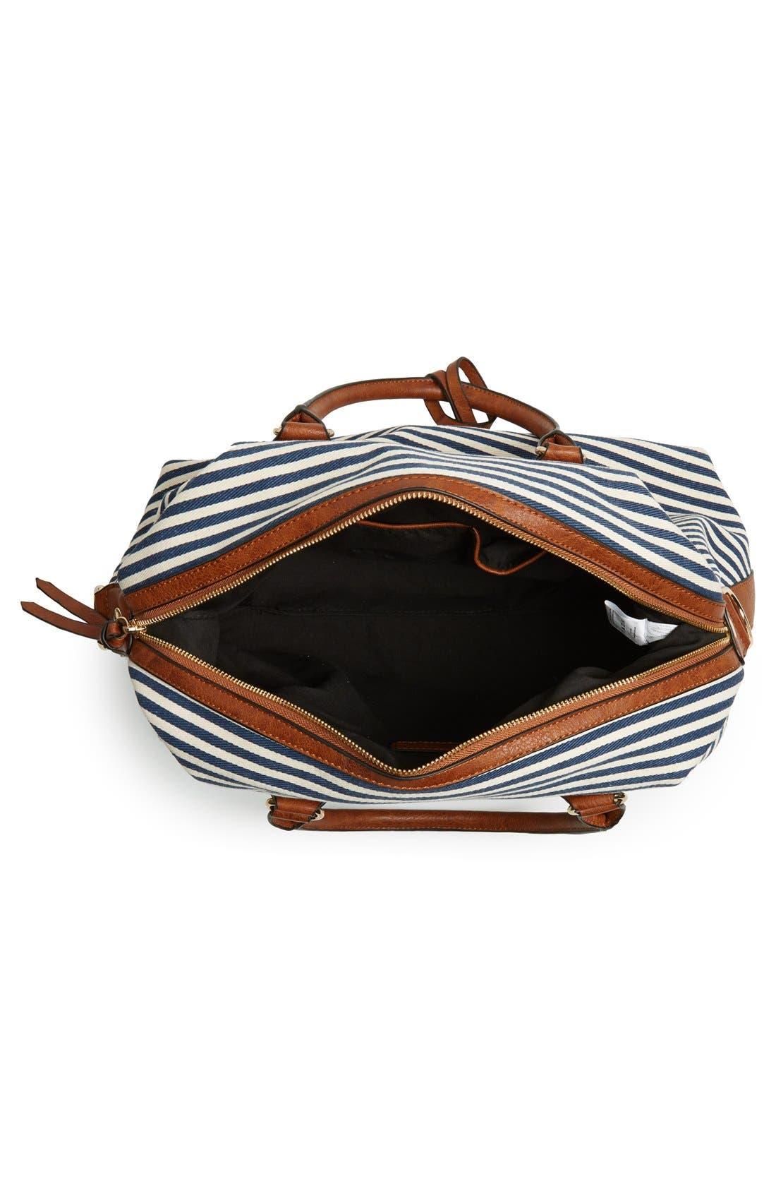 Alternate Image 4  - Sole Society 'Leighton' Stripe Duffel Bag