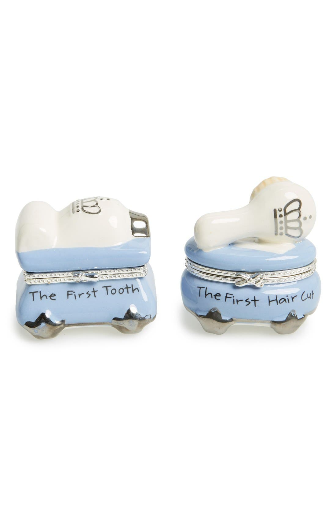 'Prince' First Tooth & Curl Treasure Box Set,                             Main thumbnail 1, color,                             Blue