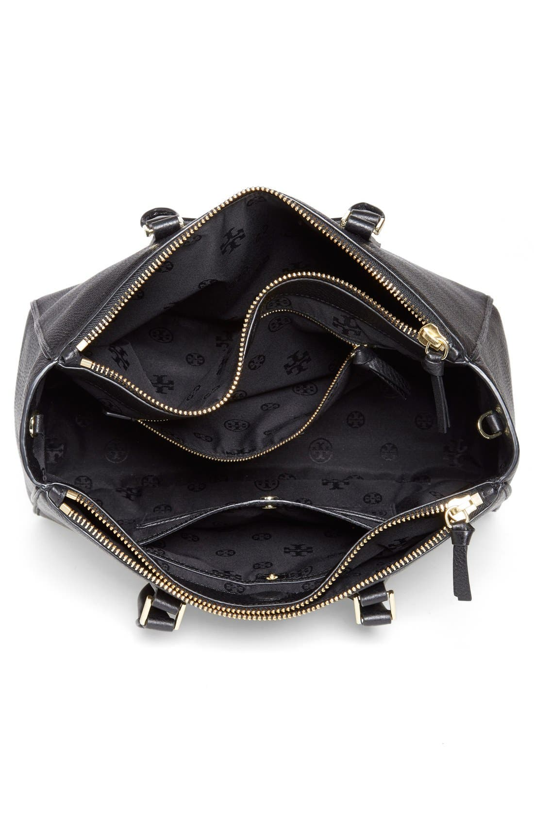 Alternate Image 4  - Tory Burch 'Robinson' Pebbled Leather Double Zip Tote