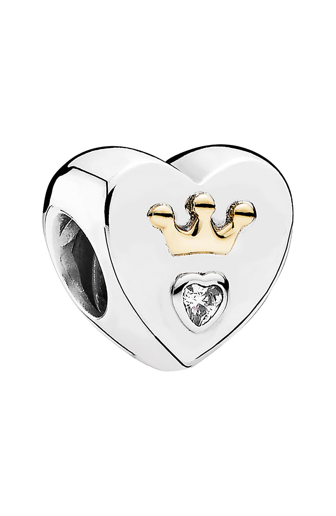Alternate Image 1 Selected - PANDORA 'Majestic Heart' Cubic Zirconia Charm