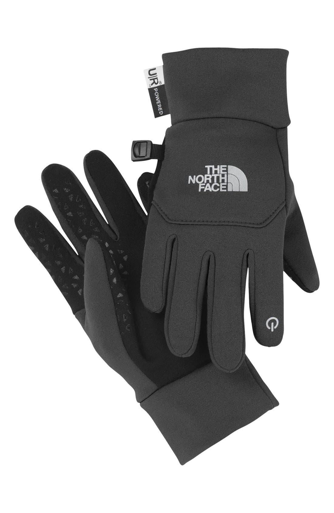 'eTip' Gloves,                         Main,                         color, Asphalt Grey