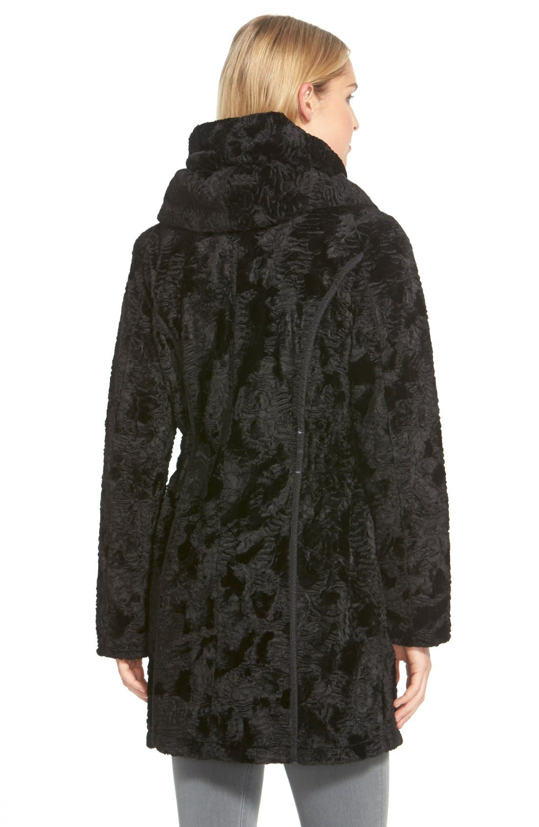 Alternate Image 3  - Laundry by Shelli Segal Reversible Faux Persian Lamb Fur Coat (Regular & Petite)