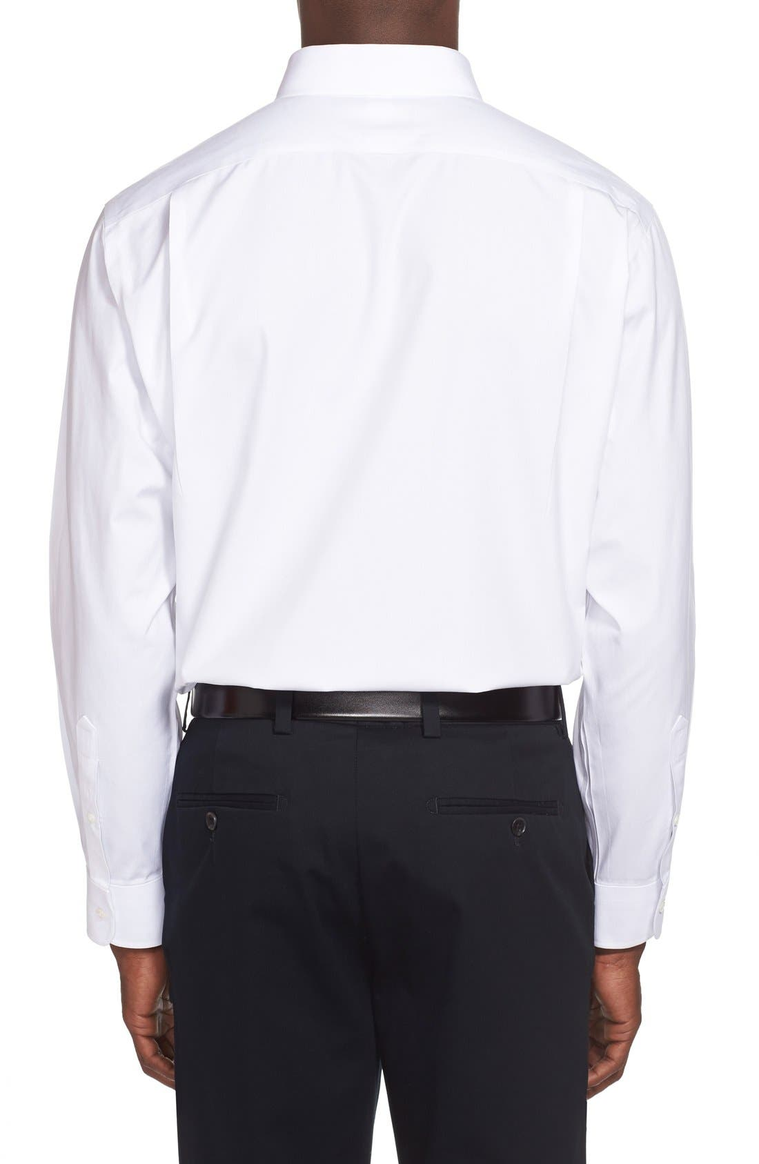 Smartcare<sup>™</sup> Traditional Fit Pinpoint Dress Shirt,                             Alternate thumbnail 2, color,                             White