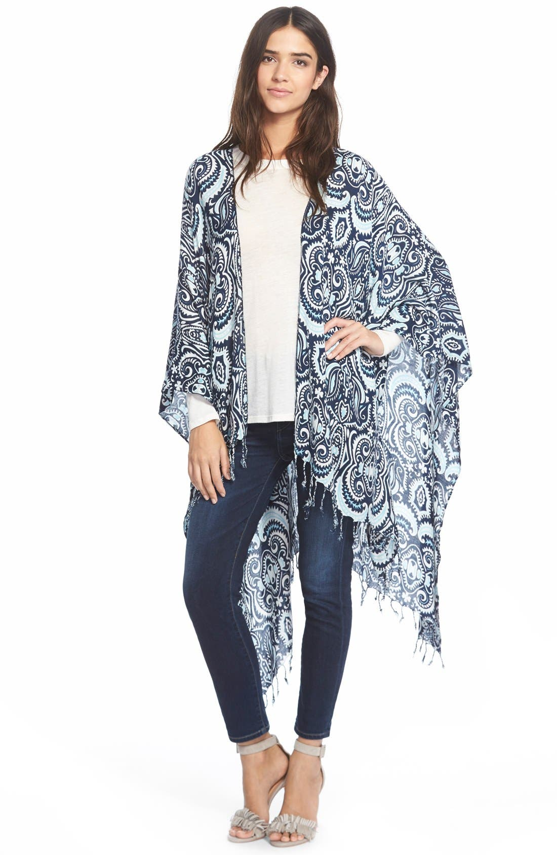 Alternate Image 1 Selected - Jules Smith 'Persian Paisley' Cape