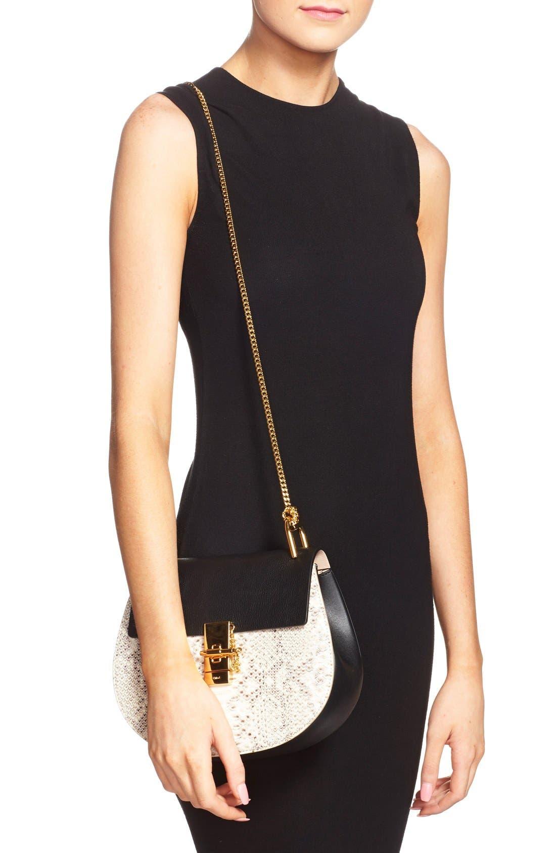 Alternate Image 2  - Chloé'Small Drew' Genuine Python & Calfskin Leather Crossbody Bag