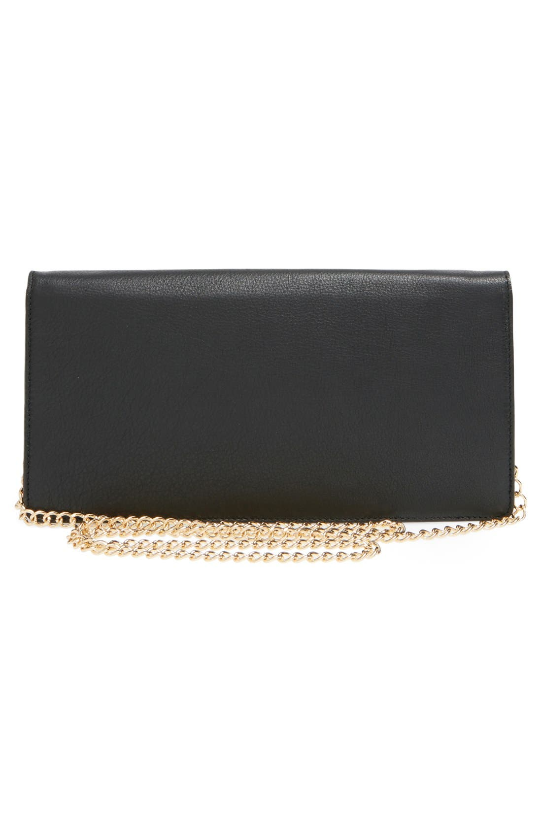 Alternate Image 3  - Halogen® Leather Clutch