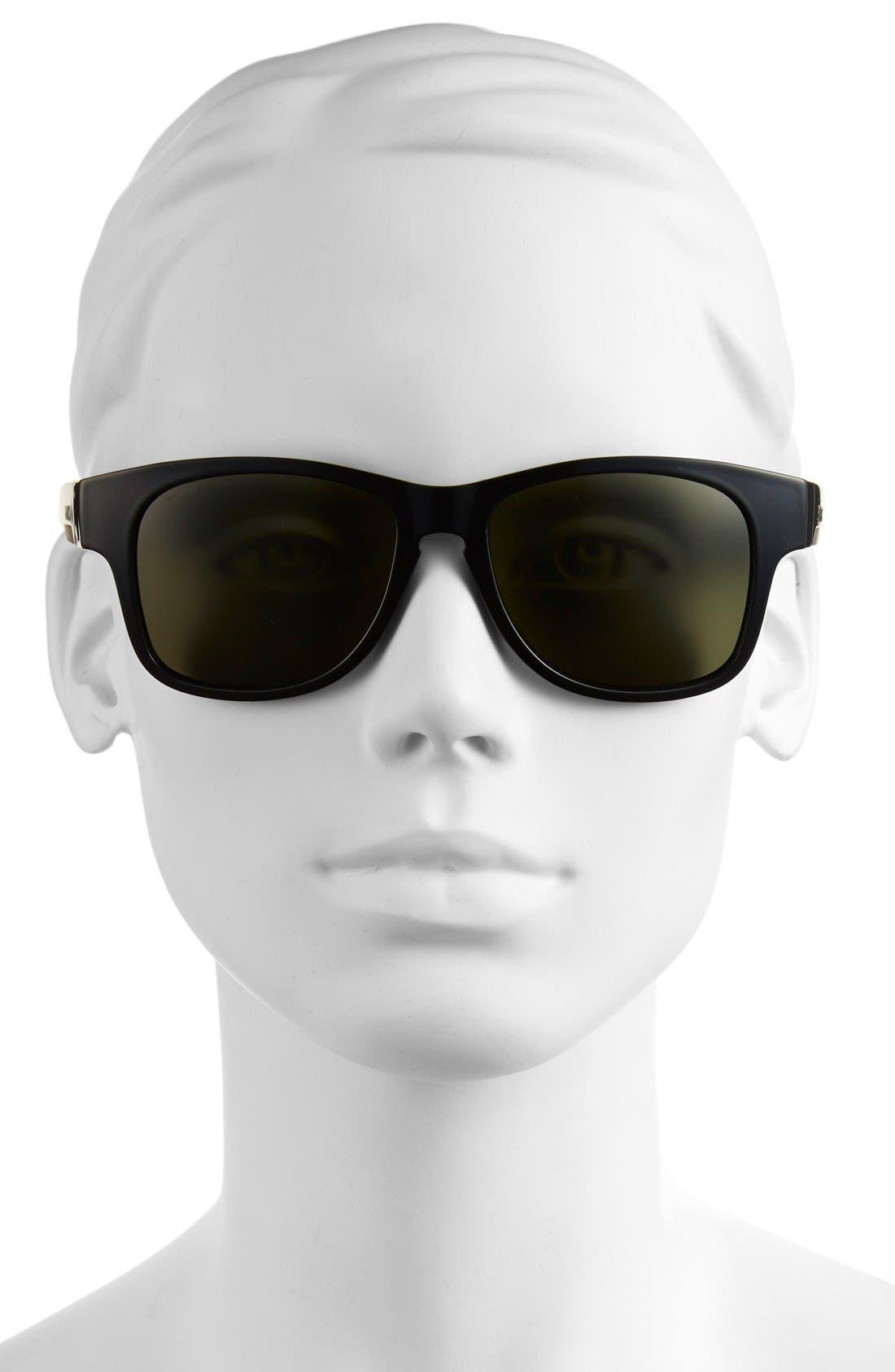 'Wayward' 54mm Polarized Sunglasses,                             Alternate thumbnail 2, color,                             Black/ Polar Gray Green