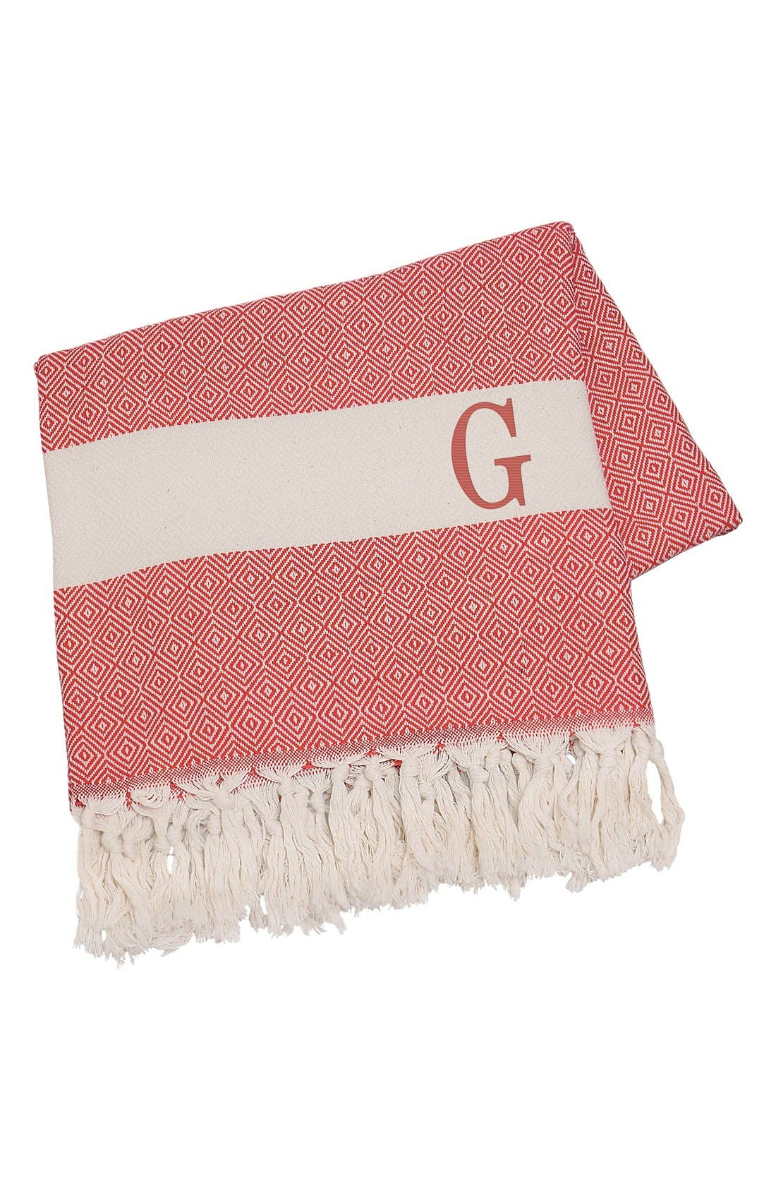 Cathy's Concepts Monogram Turkish Cotton Throw