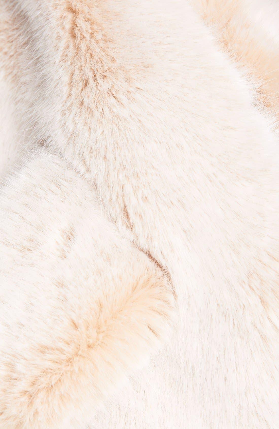 Faux Fur Stole,                             Alternate thumbnail 2, color,                             Neutral