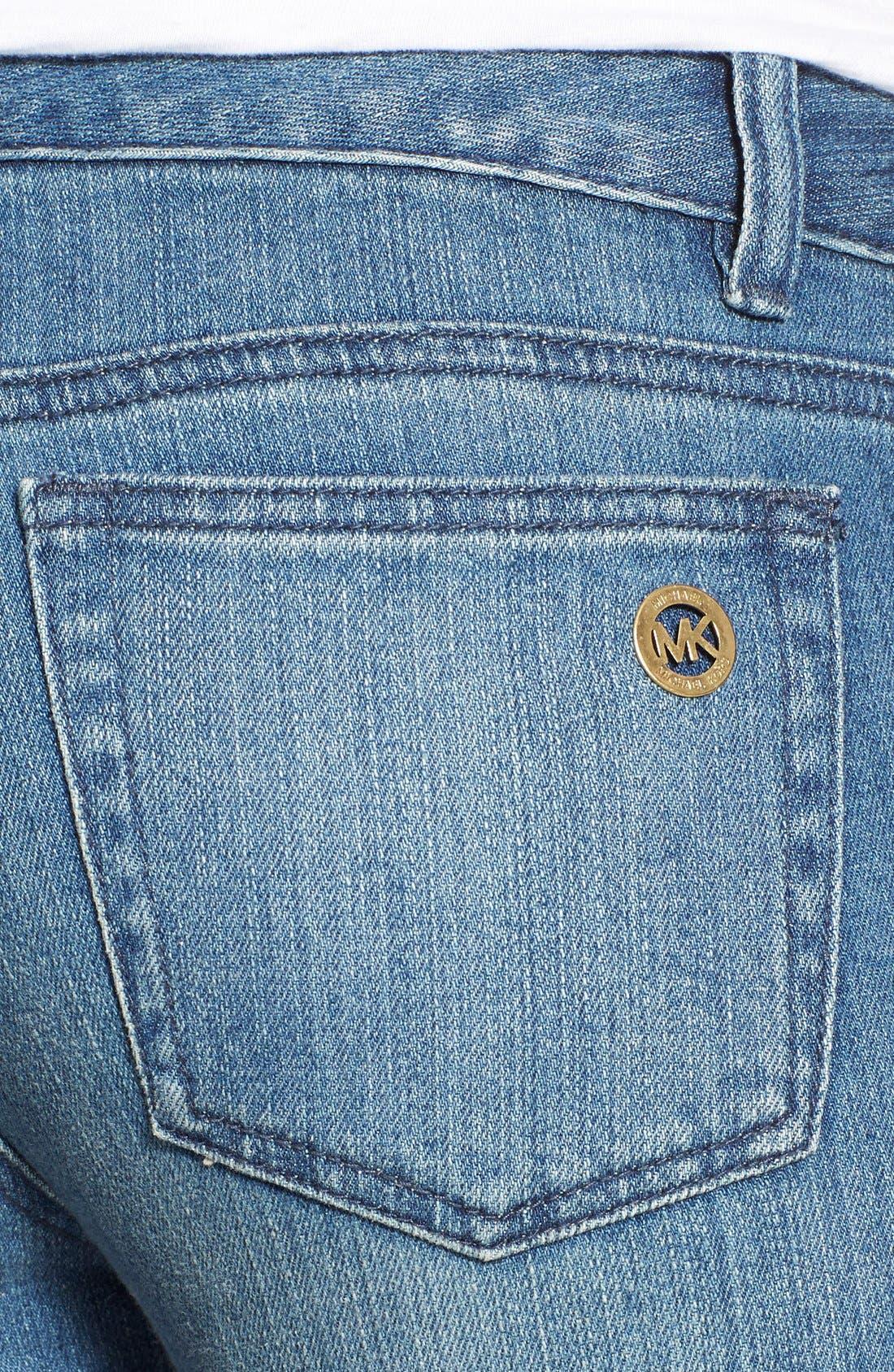 Alternate Image 4  - MICHAEL Michael KorsStretch Zip Pocket Ankle Skinny Jeans(Veruschka)