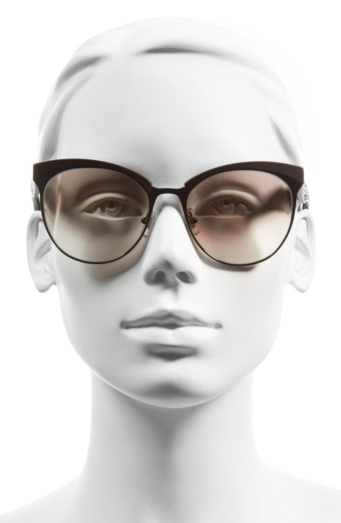 Alternate Image 2  - Miu Miu 56mm Pavé Cat Eye Sunglasses