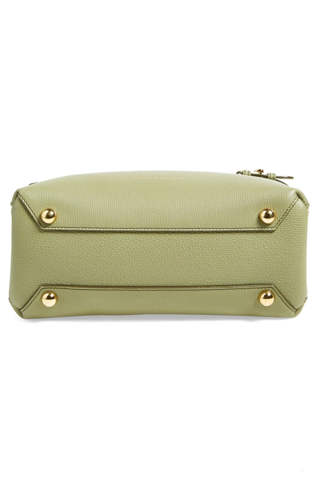 'Small Banner' Leather Tote,                             Alternate thumbnail 6, color,                             Pale Pistachio Green