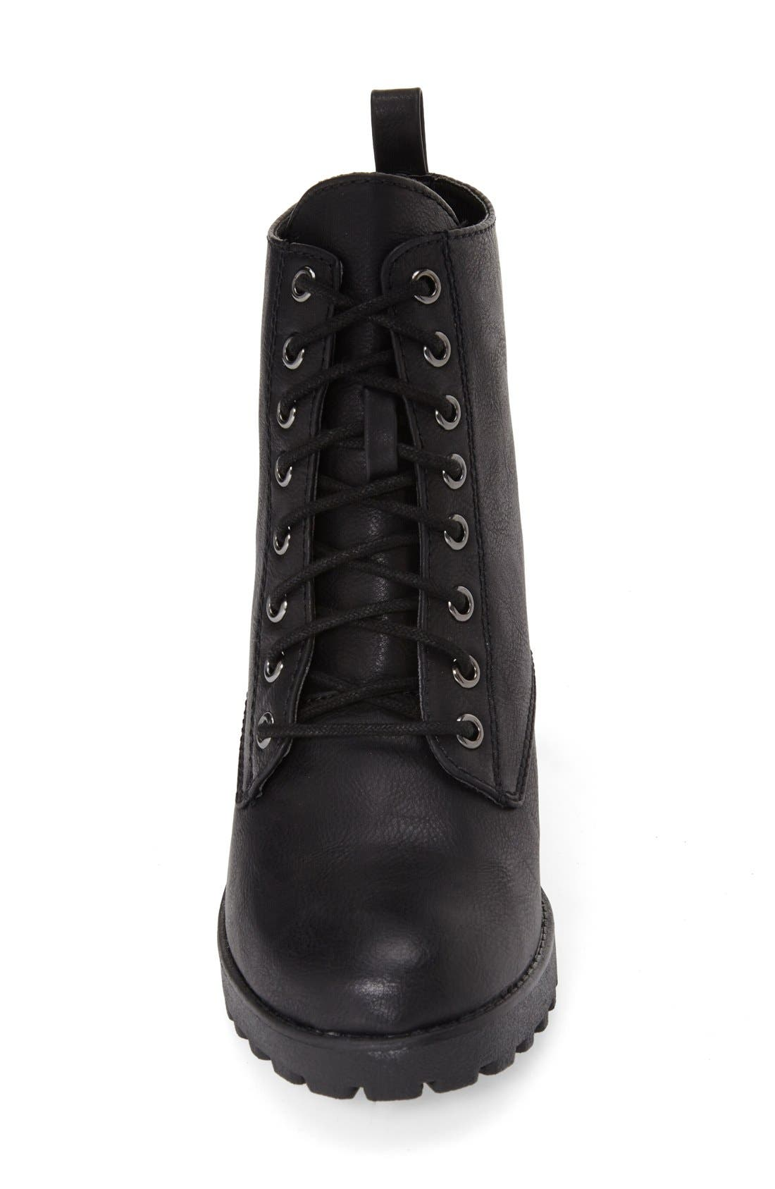 Alternate Image 3  - MIA 'Kat' Lace-Up Lug Bootie (Women)