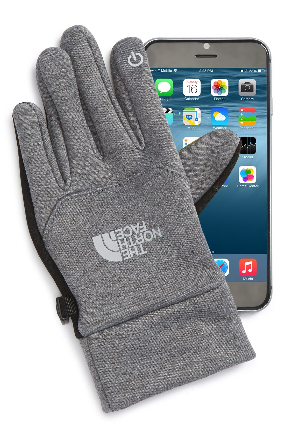 Alternate Image 2  - The North Face 'Etip' Gloves (Little Girls & Big Girls)