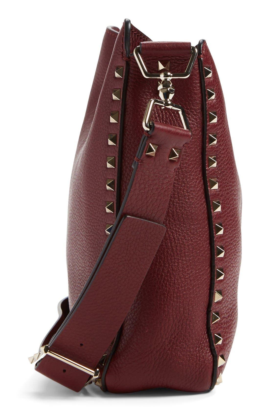 Alternate Image 4  - Valentino 'Small Rockstud' Leather Hobo Bag