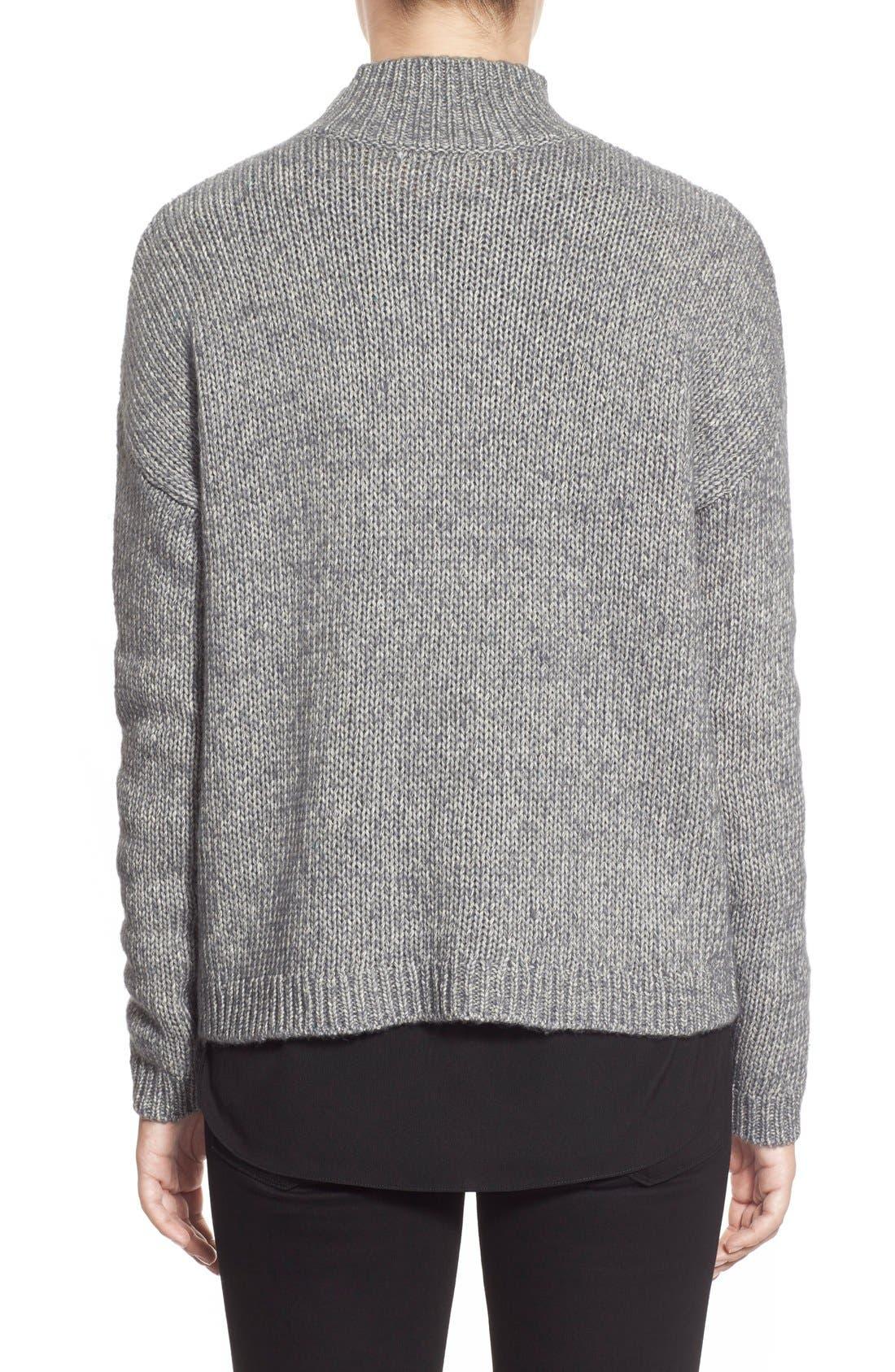 Alternate Image 2  - Halogen® Pattern Front Mock Neck Sweater