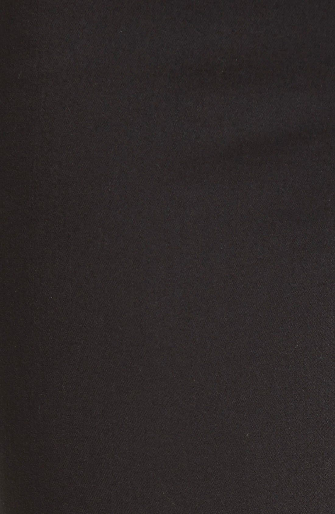 Ami Stretch Skinny Jeans,                             Alternate thumbnail 5, color,                             Black