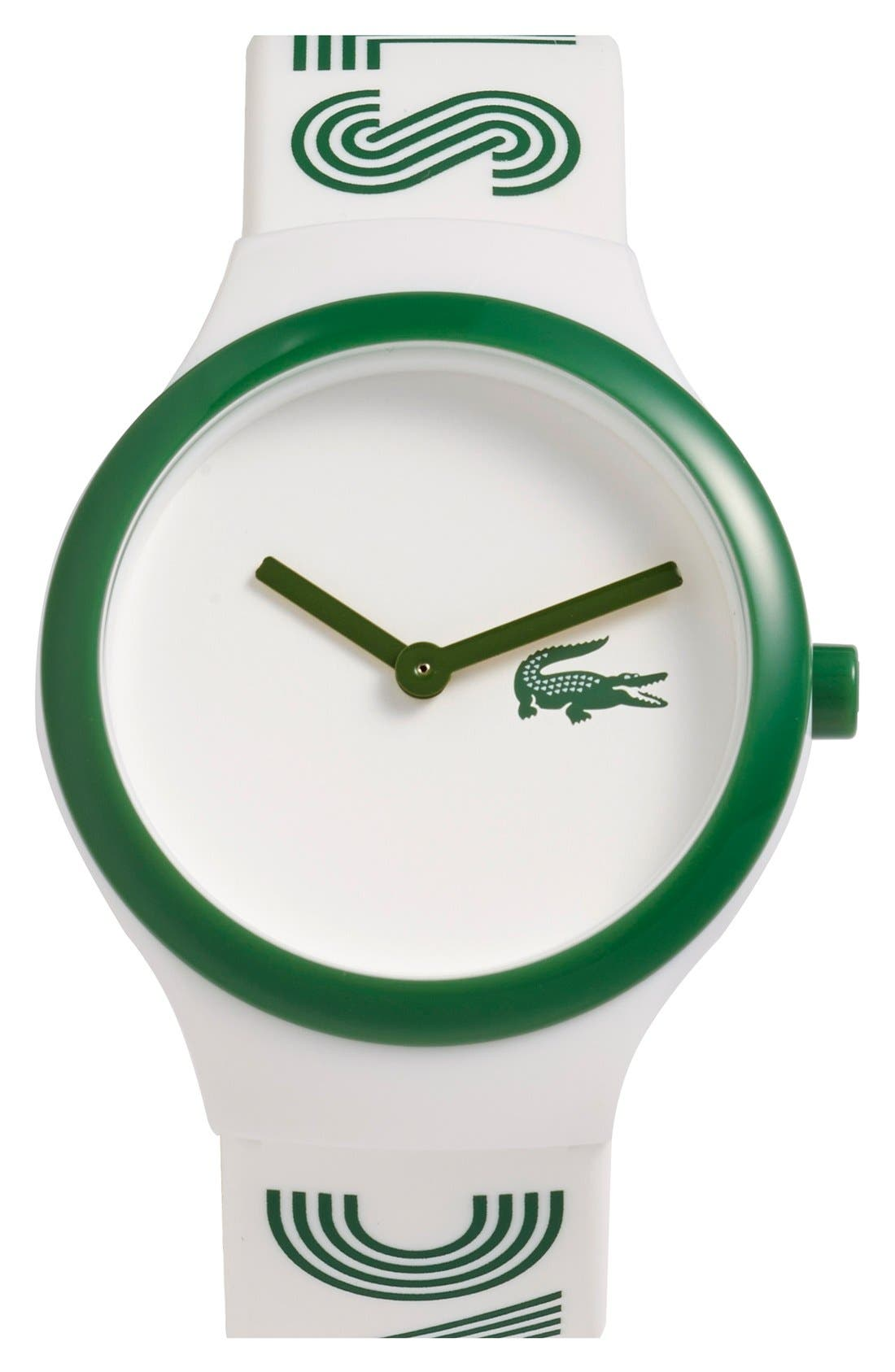 Alternate Image 1 Selected - Lacoste 'Goa' Silicone Strap Watch, 40mm