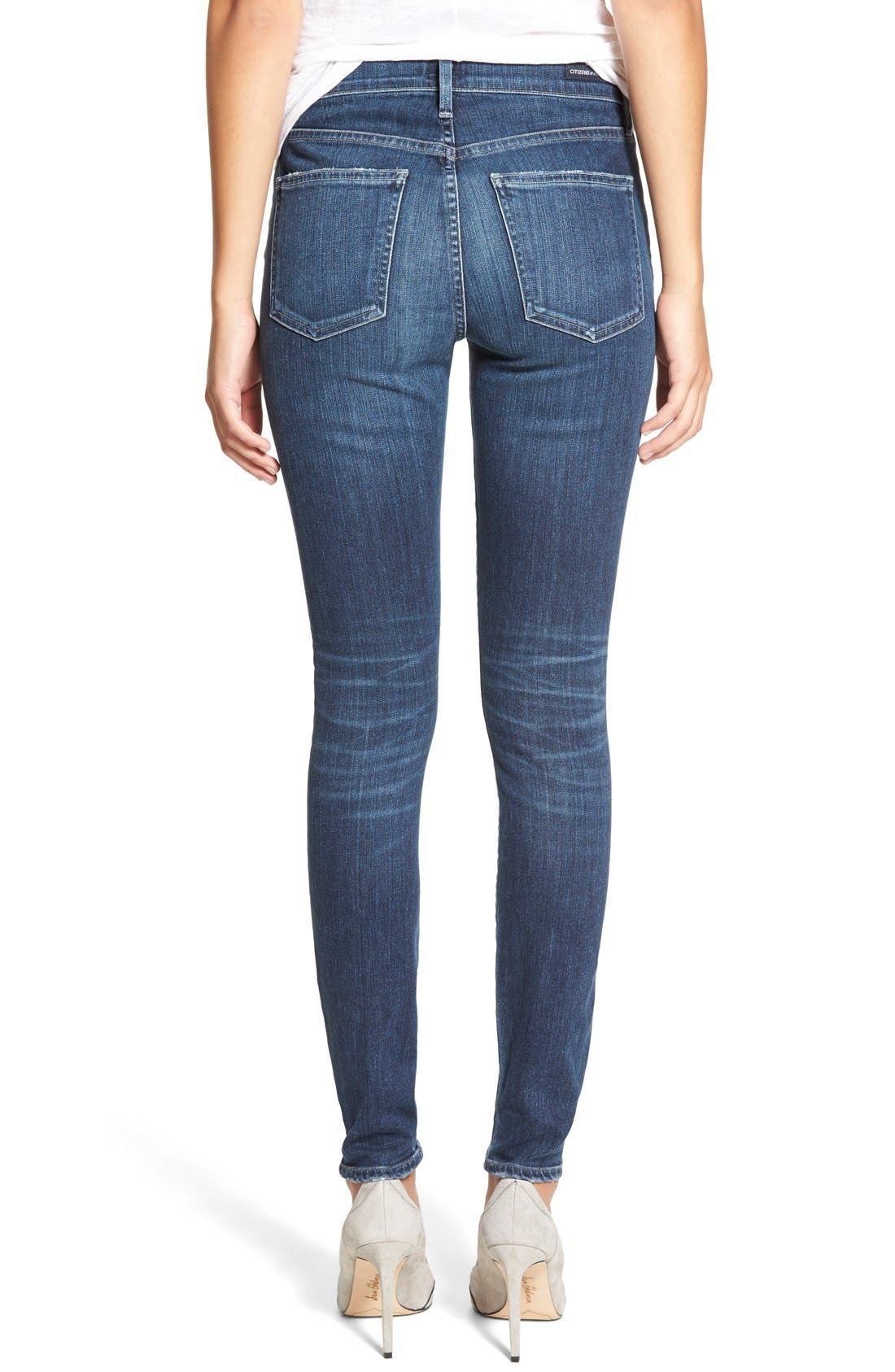 Rocket High Waist Skinny Jeans,                             Alternate thumbnail 2, color,                             Albion