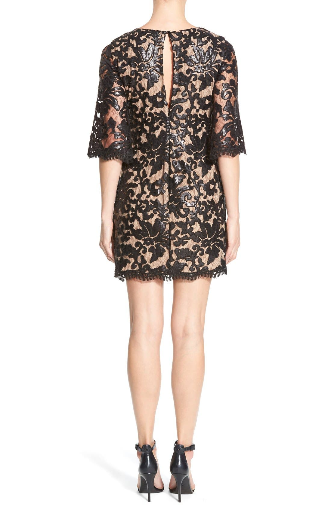Alternate Image 2  - Dress the Population Melody Sequin Lace Dress