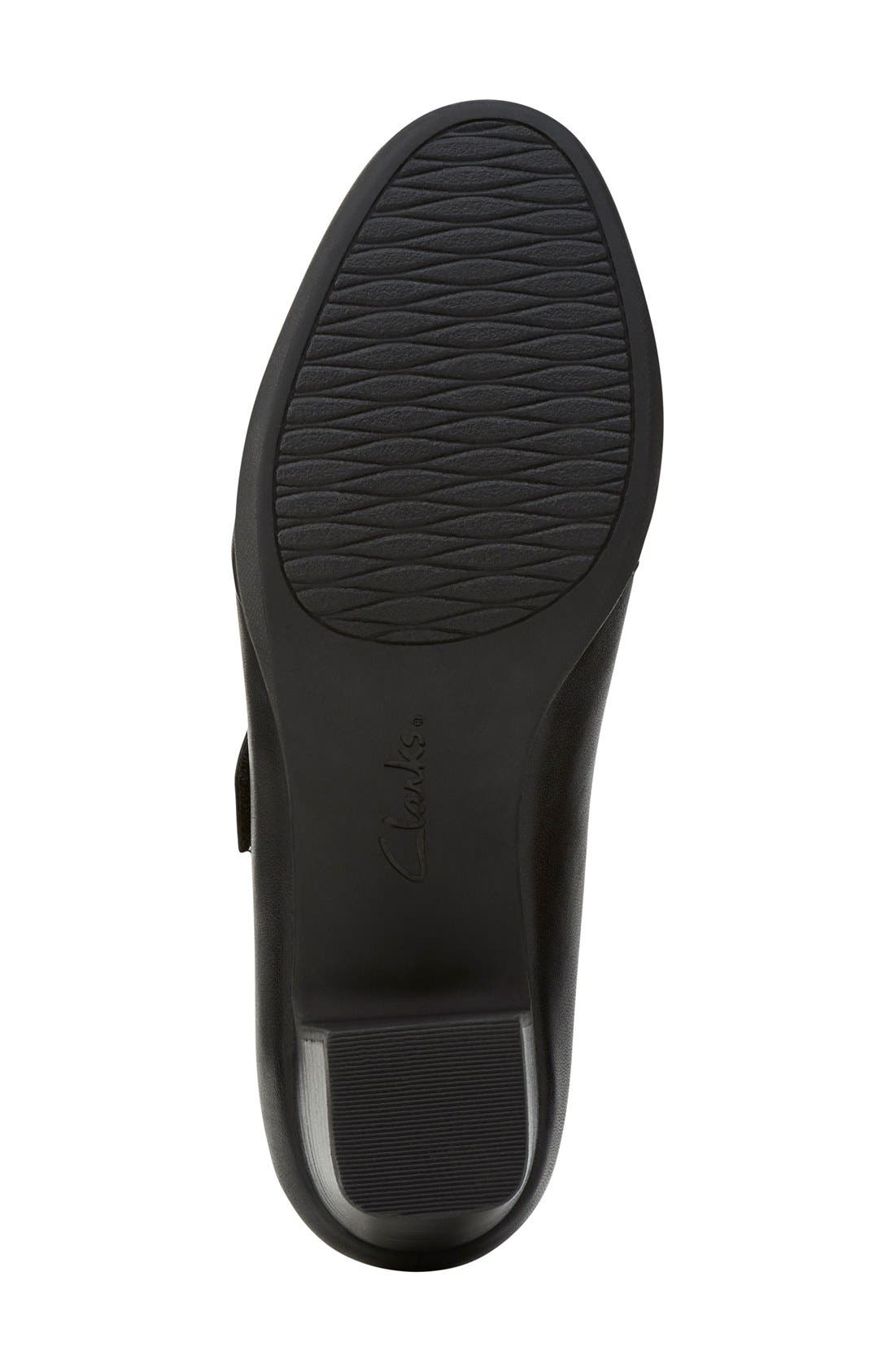 'Rosalyn Wren' Mary Jane Pump,                             Alternate thumbnail 4, color,                             Black Leather