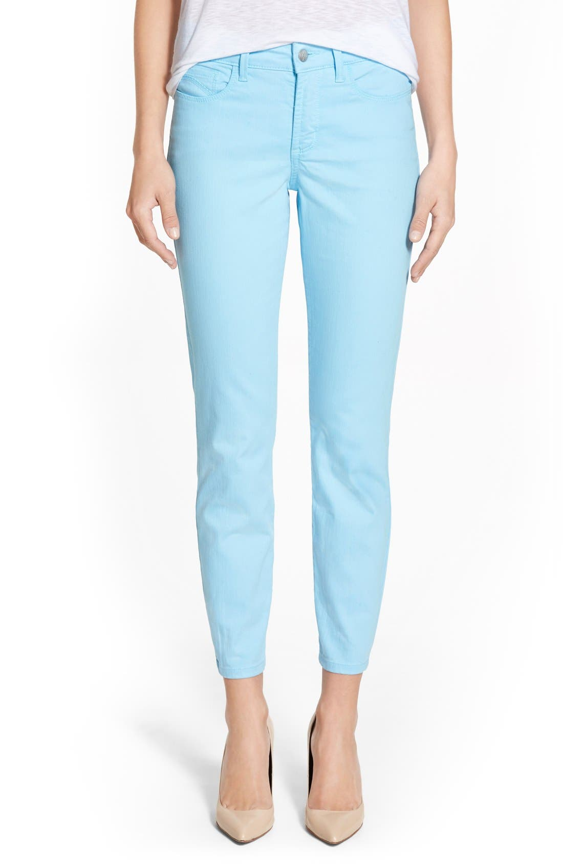 Main Image - NYDJ Clarissa Colored Stretch Ankle Skinny Jeans (Regular & Petite)