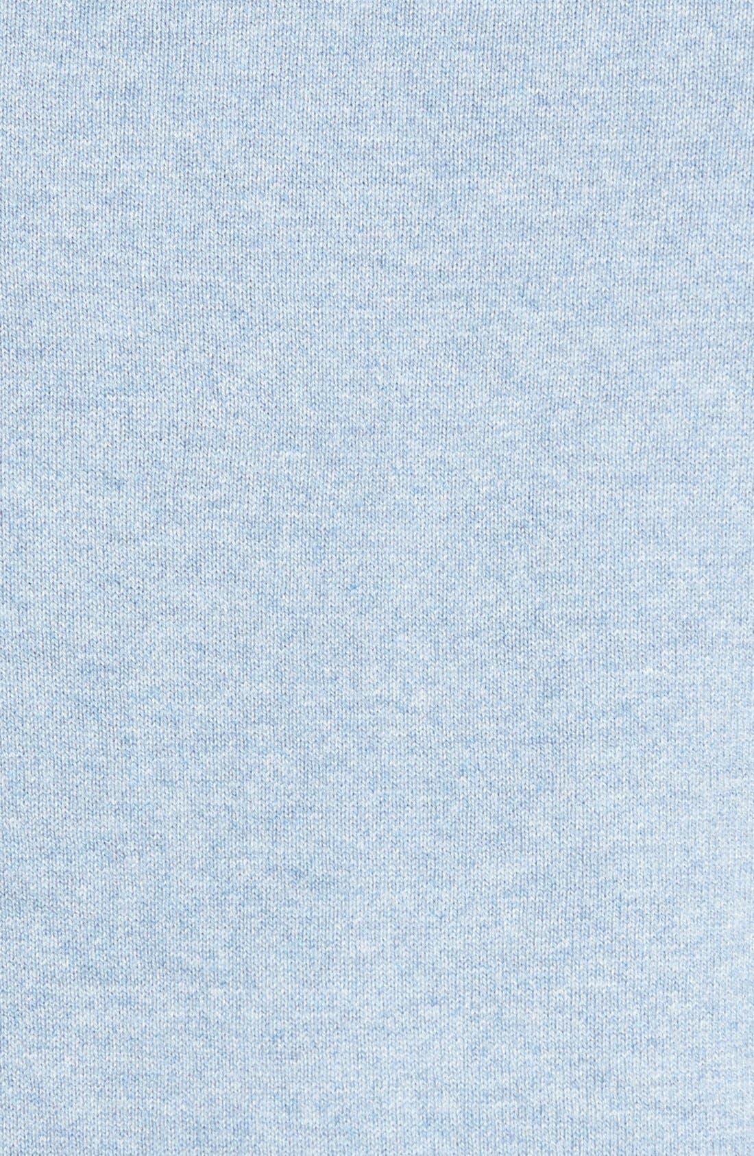 Cotton & Cashmere V-Neck Sweater,                             Alternate thumbnail 3, color,                             Blue Celestial Heather