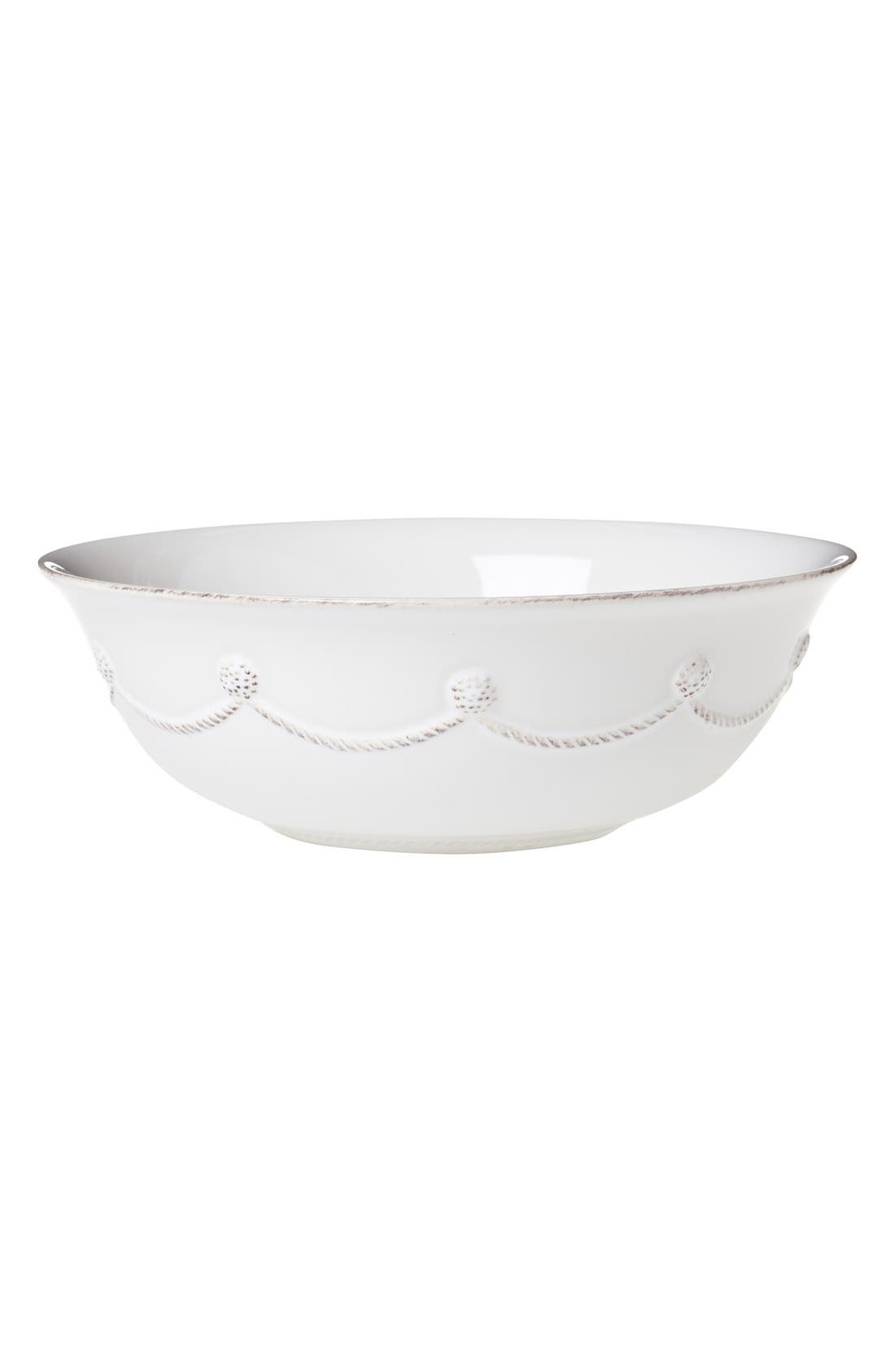 'Berry and Thread' Ceramic Serving Bowl,                         Main,                         color, Whitewash