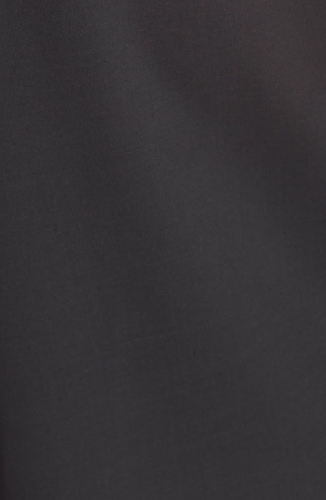 Pleated Silk Culottes,                             Alternate thumbnail 3, color,                             Black