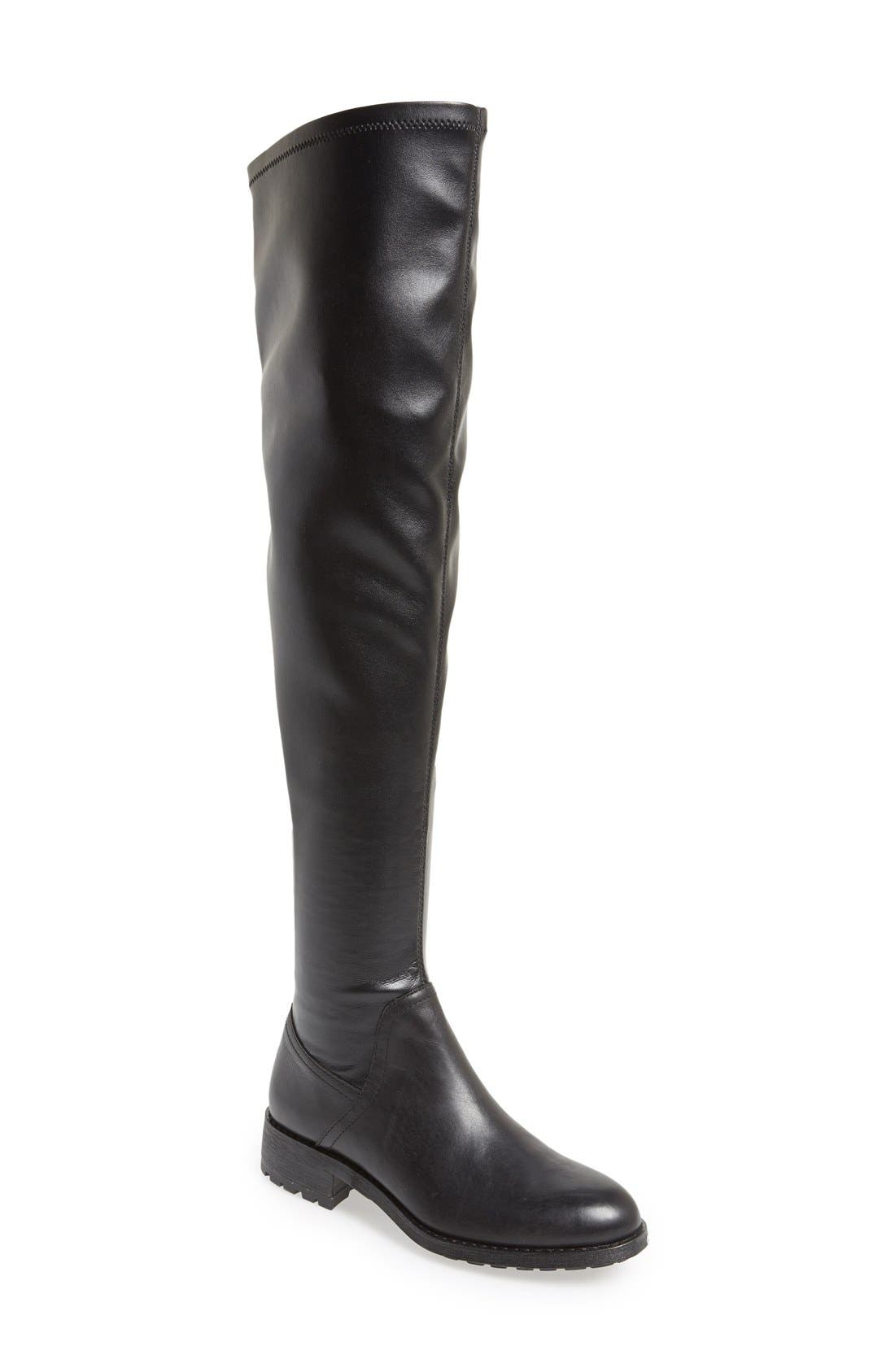 'Remi' Over The Knee Boot,                             Main thumbnail 1, color,                             Black