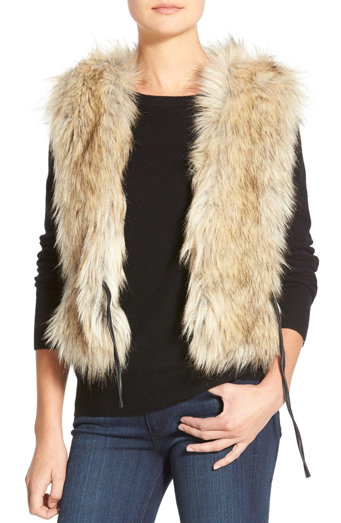 Alternate Image 5  - Dena Tweed & Faux Fur Vest
