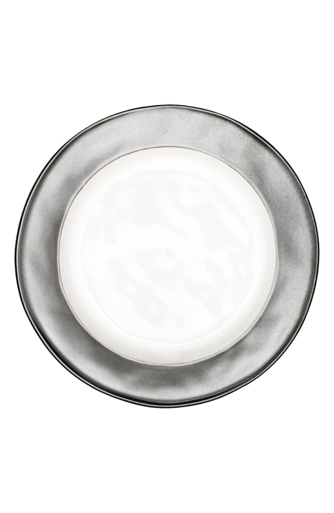 'Emerson' Ceramic Dessert Plate,                         Main,                         color, Pewter/ White