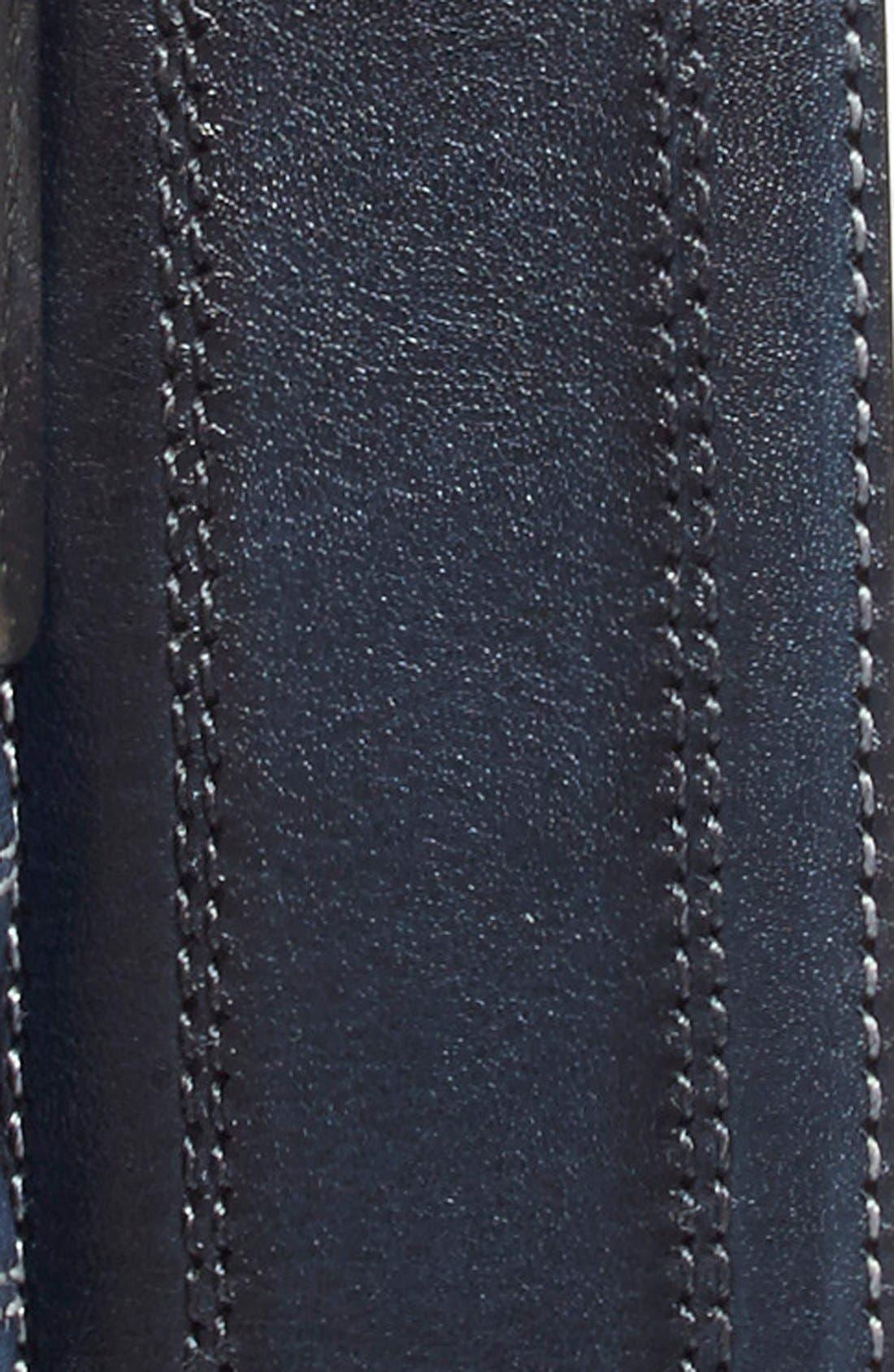 Leather Belt,                             Alternate thumbnail 2, color,                             Blue