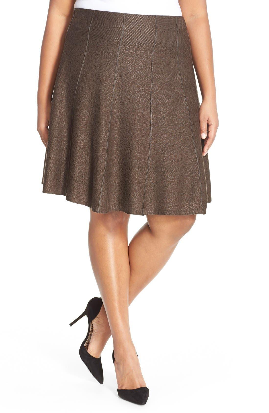 NIC+ZOE'Twirl Flirt' Paneled Skirt (Plus Size)