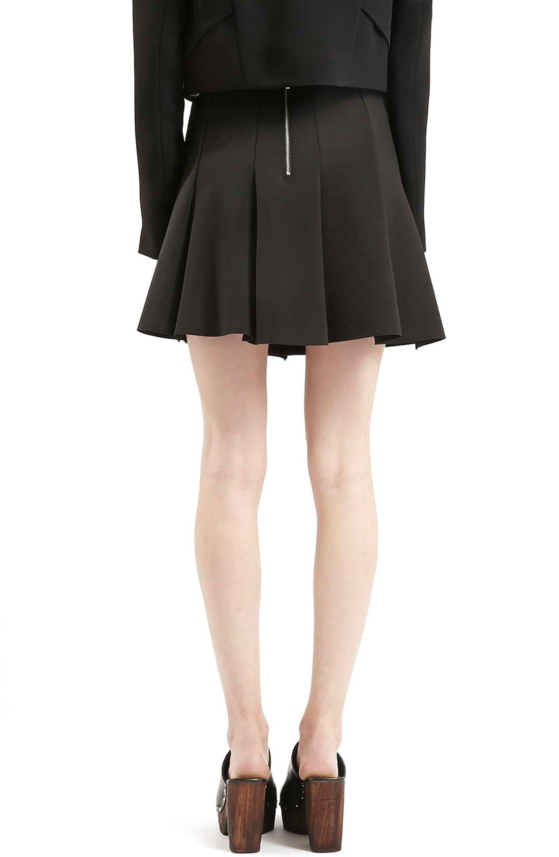 Alternate Image 3  - Topshop Flippy Pleated Miniskirt (Petite)