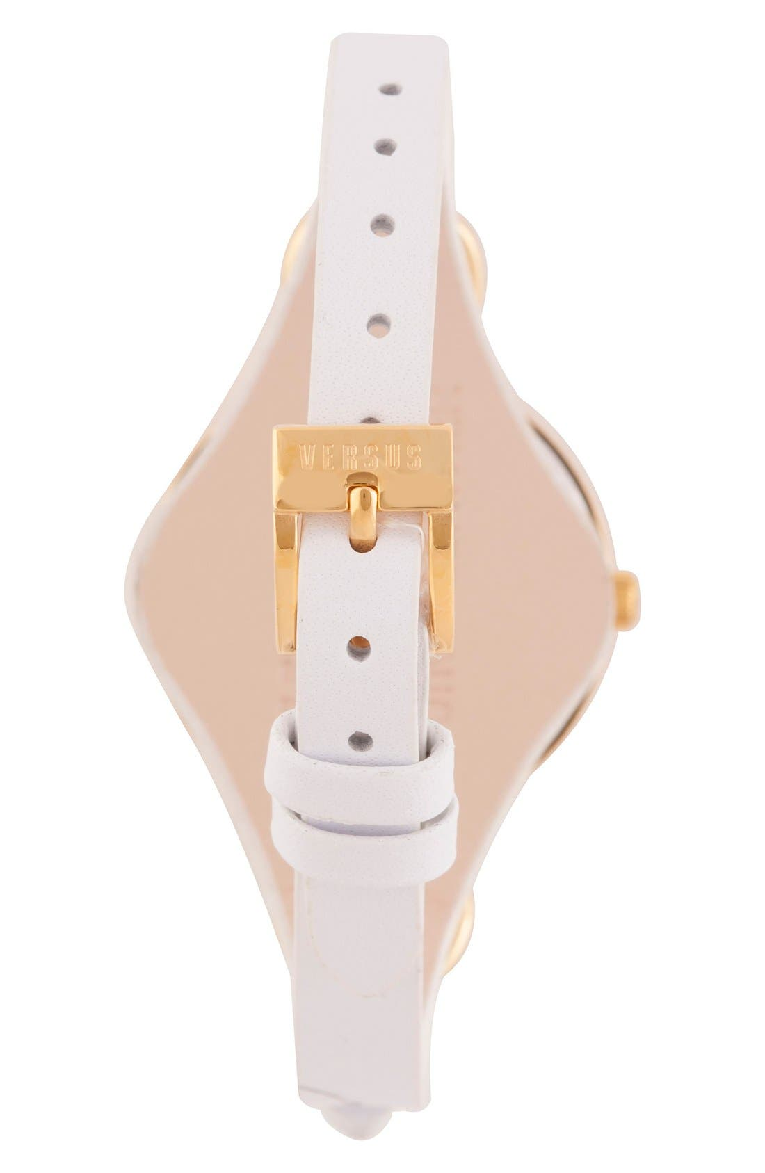Alternate Image 2  - VERSUS by Versace 'Roslyn' Leather Strap Watch, 34mm