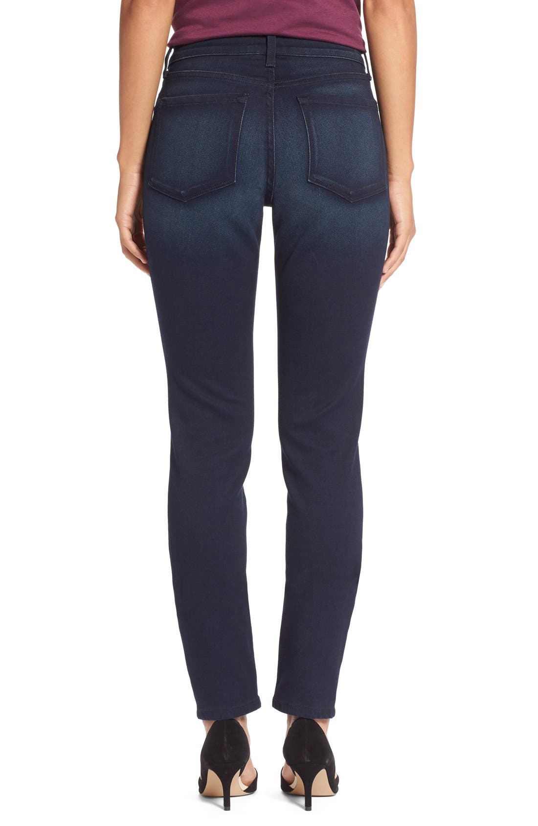 Alternate Image 5  - NYDJ Alina Colored Stretch Skinny Jeans (Regular & Petite)