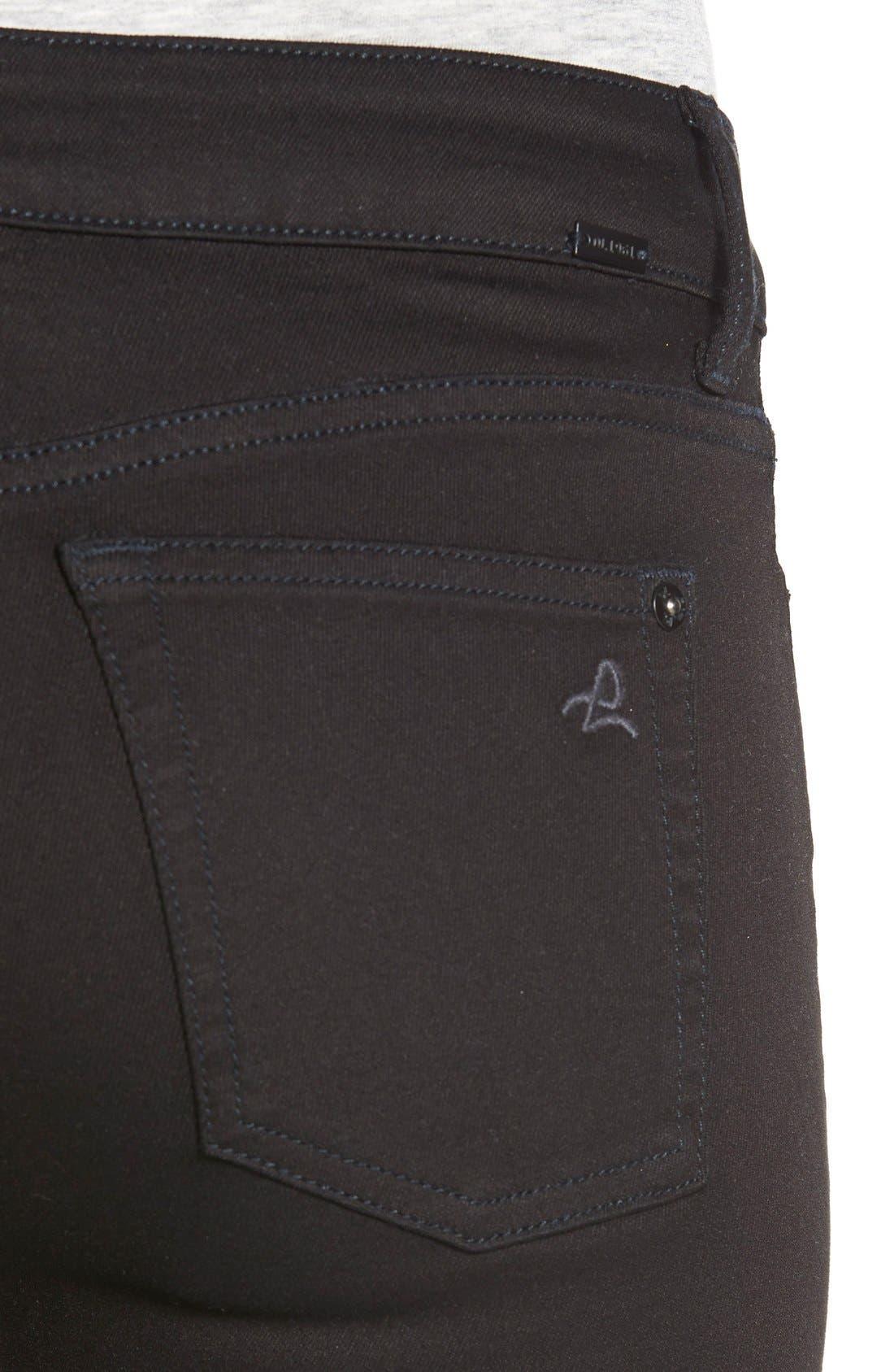 'Margaux' InstasculptAnkle Skinny Jeans,                             Alternate thumbnail 4, color,                             Hail