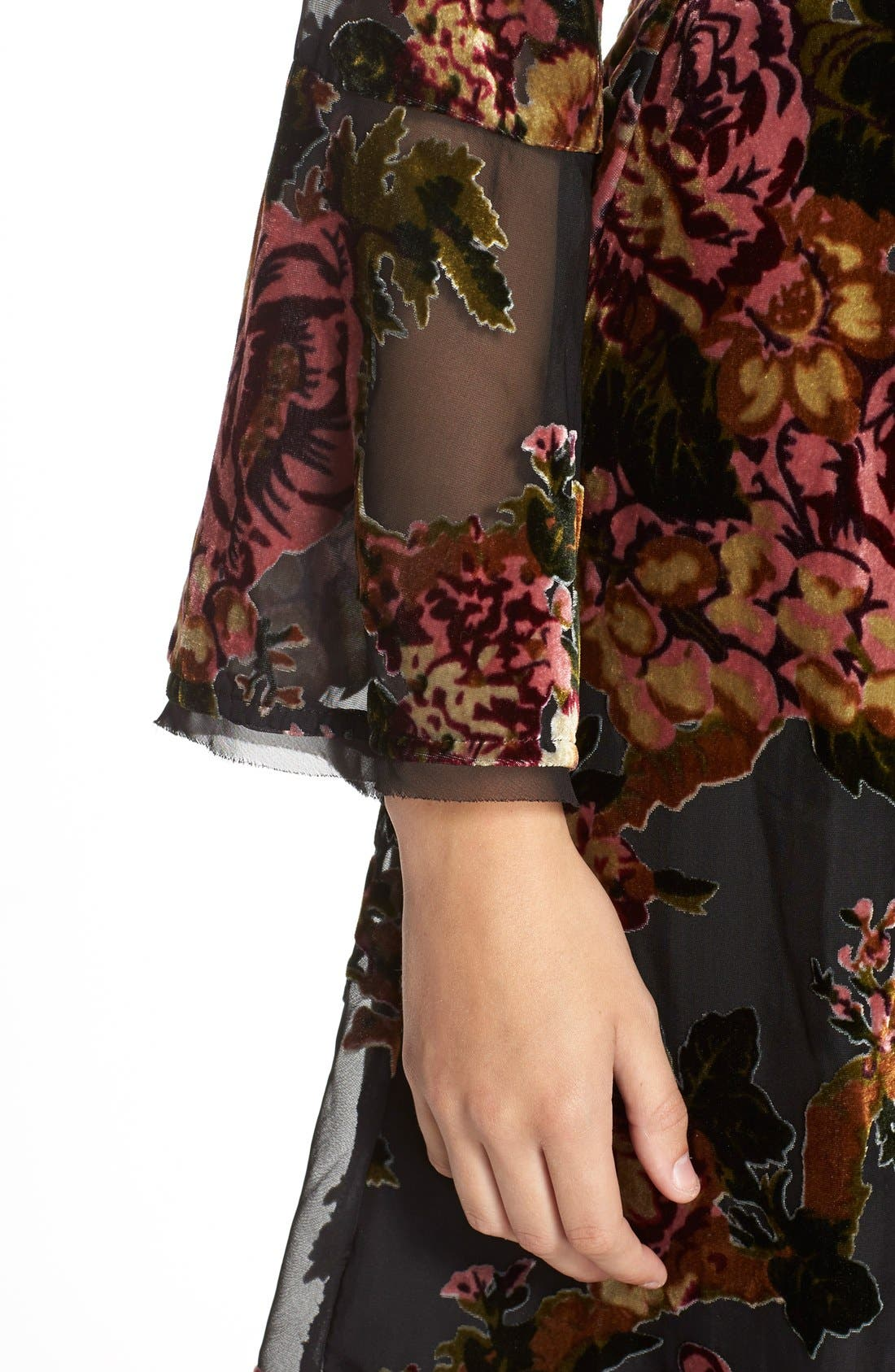 Alternate Image 5  - KUTfrom the KlothBurnout Velvet Fit & Flare Dress