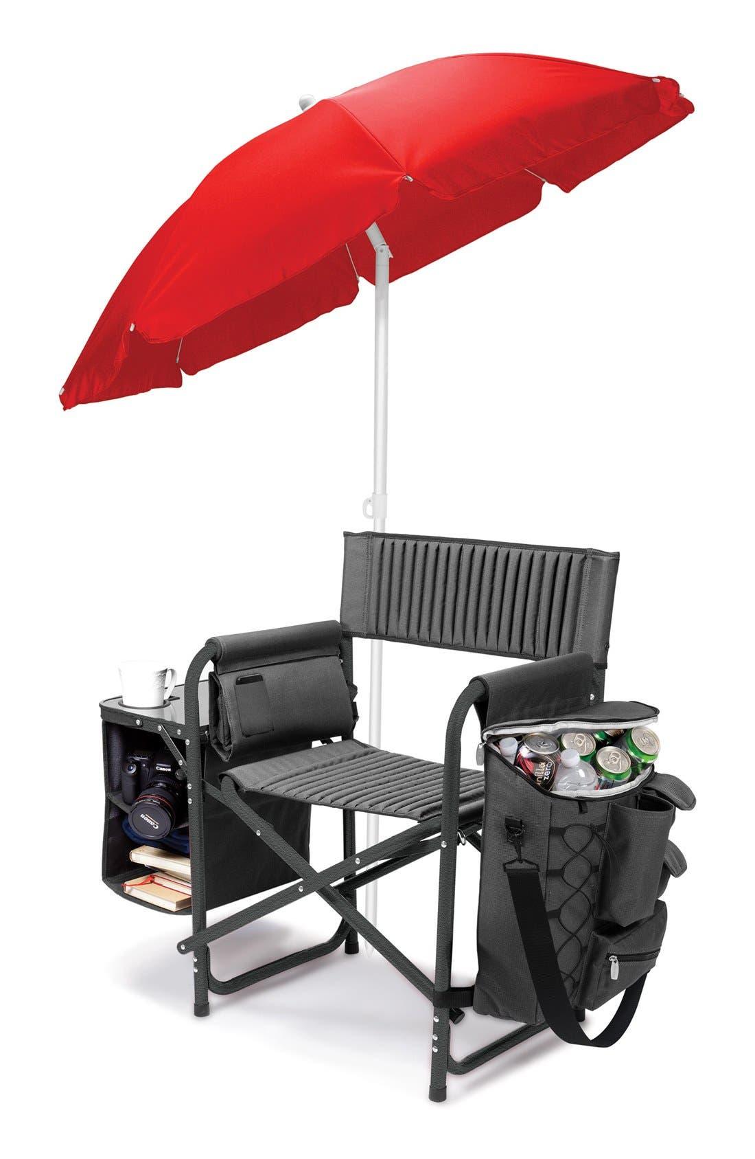 'Fusion' Lawn Chair,                             Alternate thumbnail 2, color,                             Black