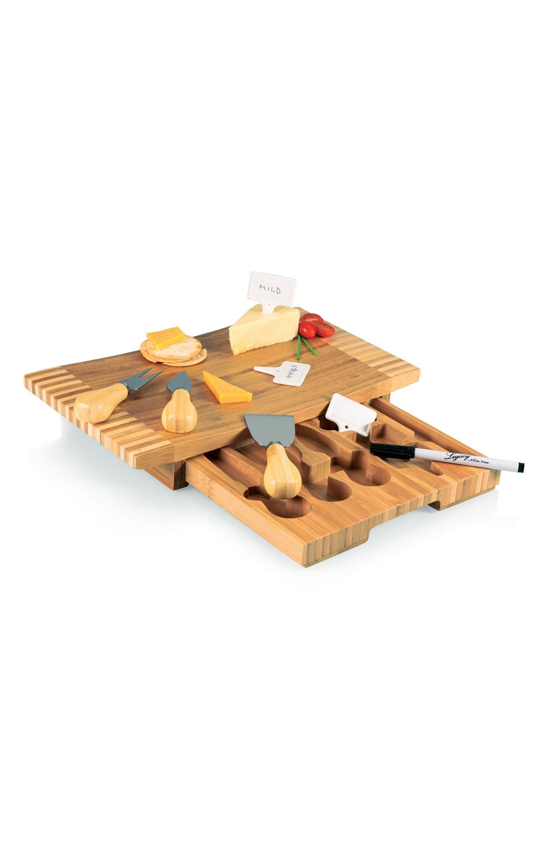 'Concavo' Cheese Board Set,                             Alternate thumbnail 5, color,                             Brown