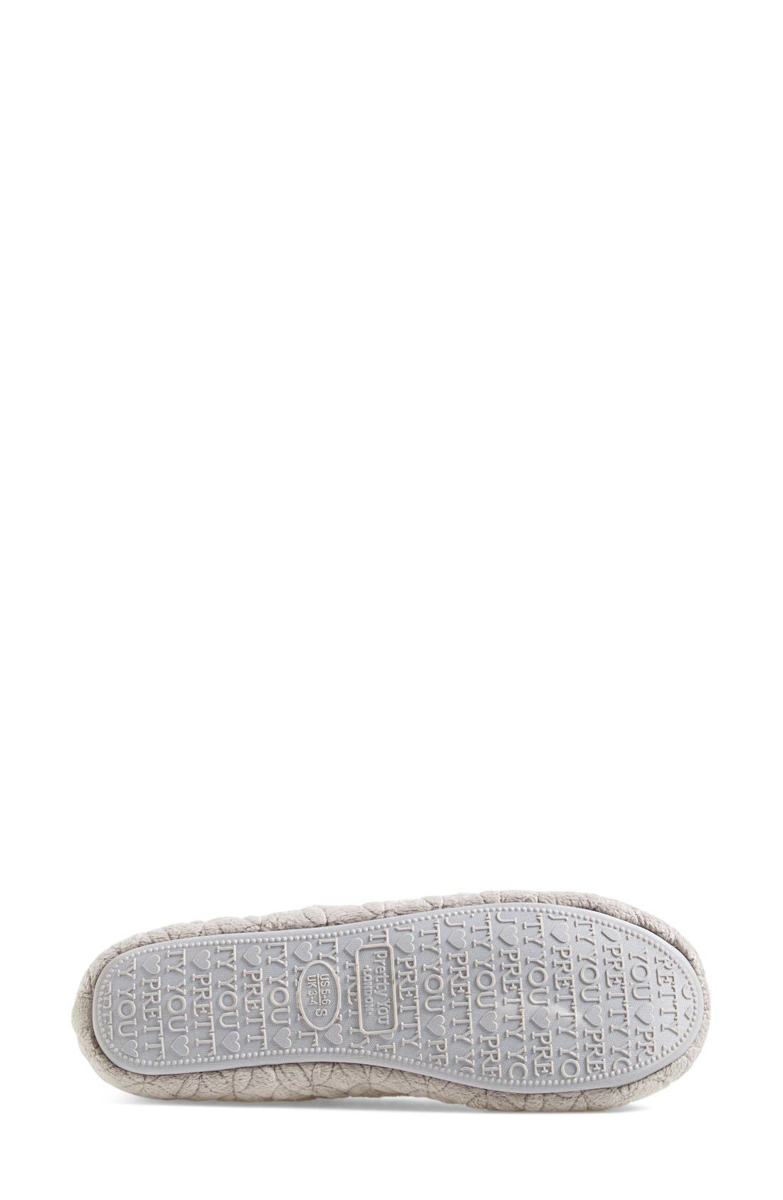 Alternate Image 3  - Pretty You London 'Opera' Quilted Faux Fur Pompom Slipper